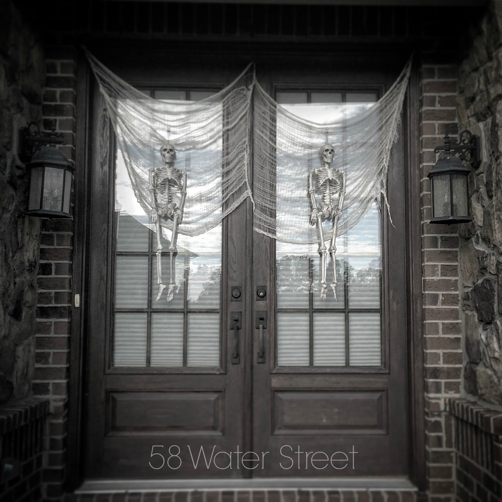 We Hang Skeletons On The Front Door In Place Of Wreaths Oh Yes Look Forward To Month October Every Year