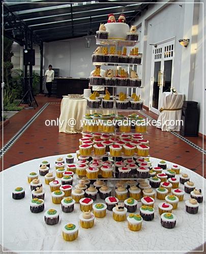 PenangCakes-EvadisCupcakes+-+Piggies+Wedding+Fondant+cake+&+Cupcakes.JPG