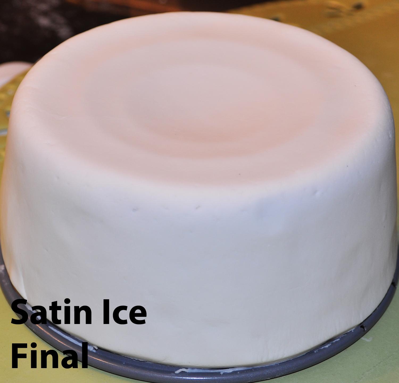 how to make fondant look like satin