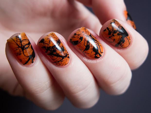 chalkboard nails halloween