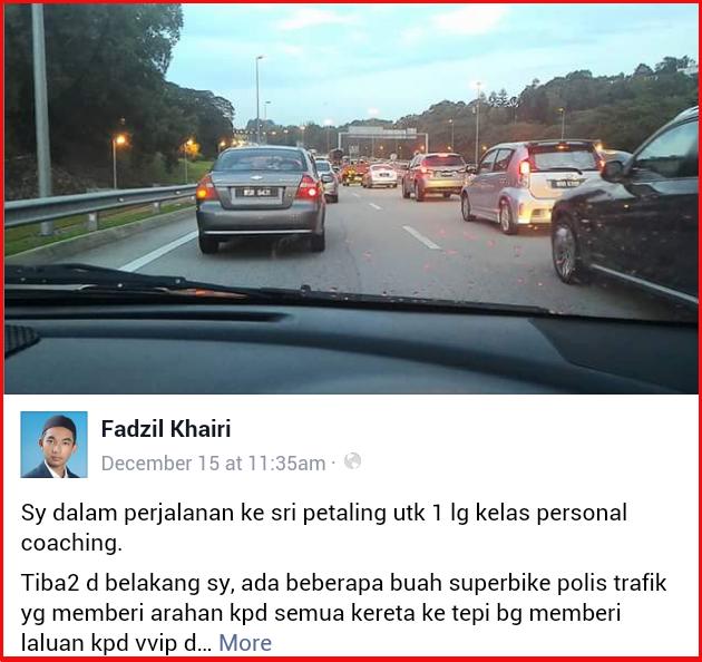Tiada Undang-Undang Kerah Pemandu Beri Ruang Kepada VIP Kecuali...