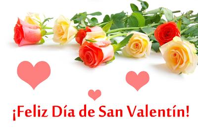 Postal de Amor con rosas y mensaje gratis para San Valentín