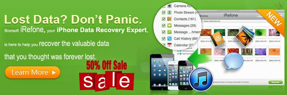 Get iRefone 50% Off Coupon Code on Brorsoft FaceBook-The Best iPhone/iPad/iPod Data Recovery Tool