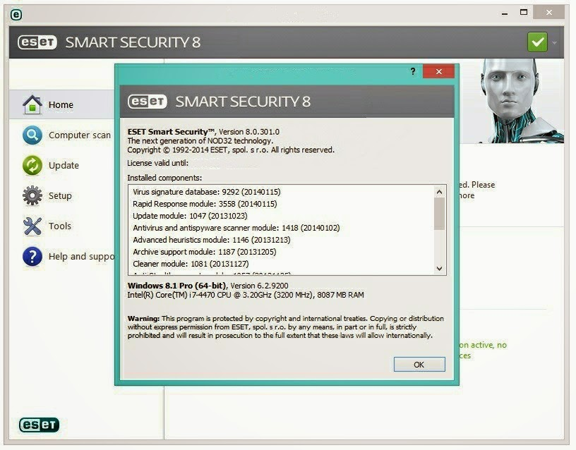 ESET NOD32 Antivirus 8 Full Serial Key