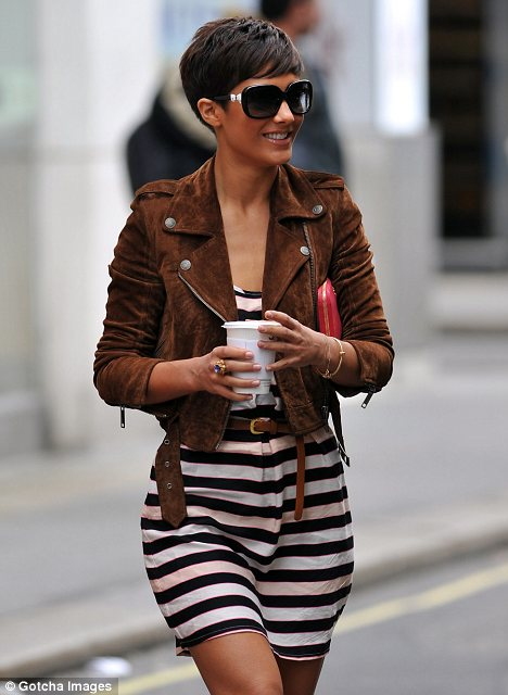 Feeling a bit posh? Frankie Sandford sports new elfin crop hairstyle just like Victoria Beckham's old do