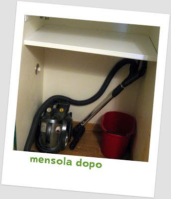 Sorriso a 365 giorni lavori in corso il mini ripostiglio for Mensola bianca lucida