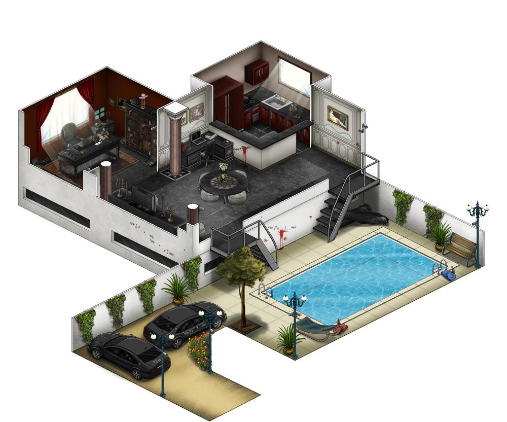 olivier wittig decors d 39 interieur pour le jeu case. Black Bedroom Furniture Sets. Home Design Ideas