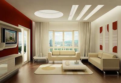 Desain Ruang TV dan keluarga sederhana