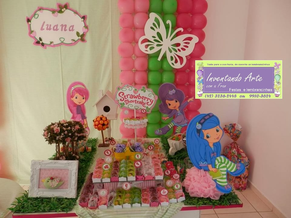 festa infantil decoração moranguinho