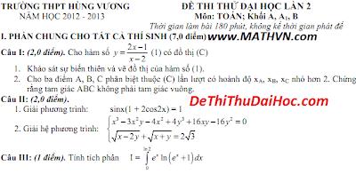 4 de thi thu dai hoc mon toan khoi a 2013 co dap an