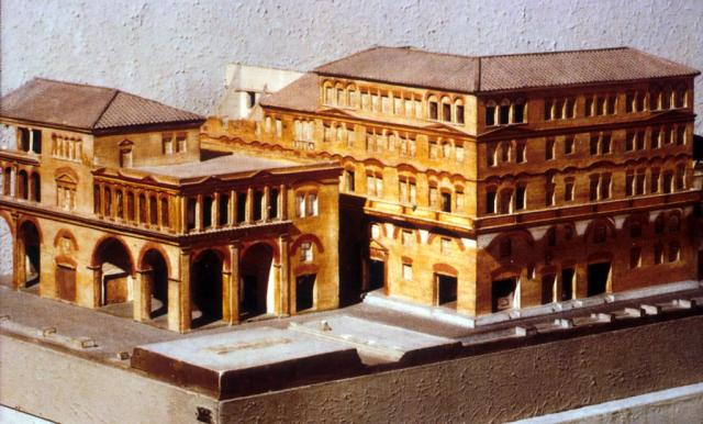 Of An Apartment Home From Ancient Rome Laits Utexas Edu Moore Image Ostia Reconstruction Model Large House