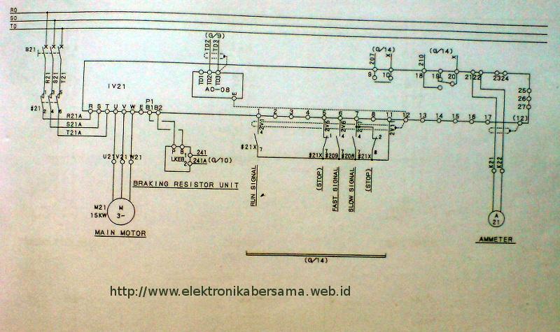 Wiring Diagram Listrik : Contoh wiring diagram inverter motor kw elektronika