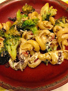 Spicy Broccoli and Sun Dried Tomato Pasta by Future Relics Pottery