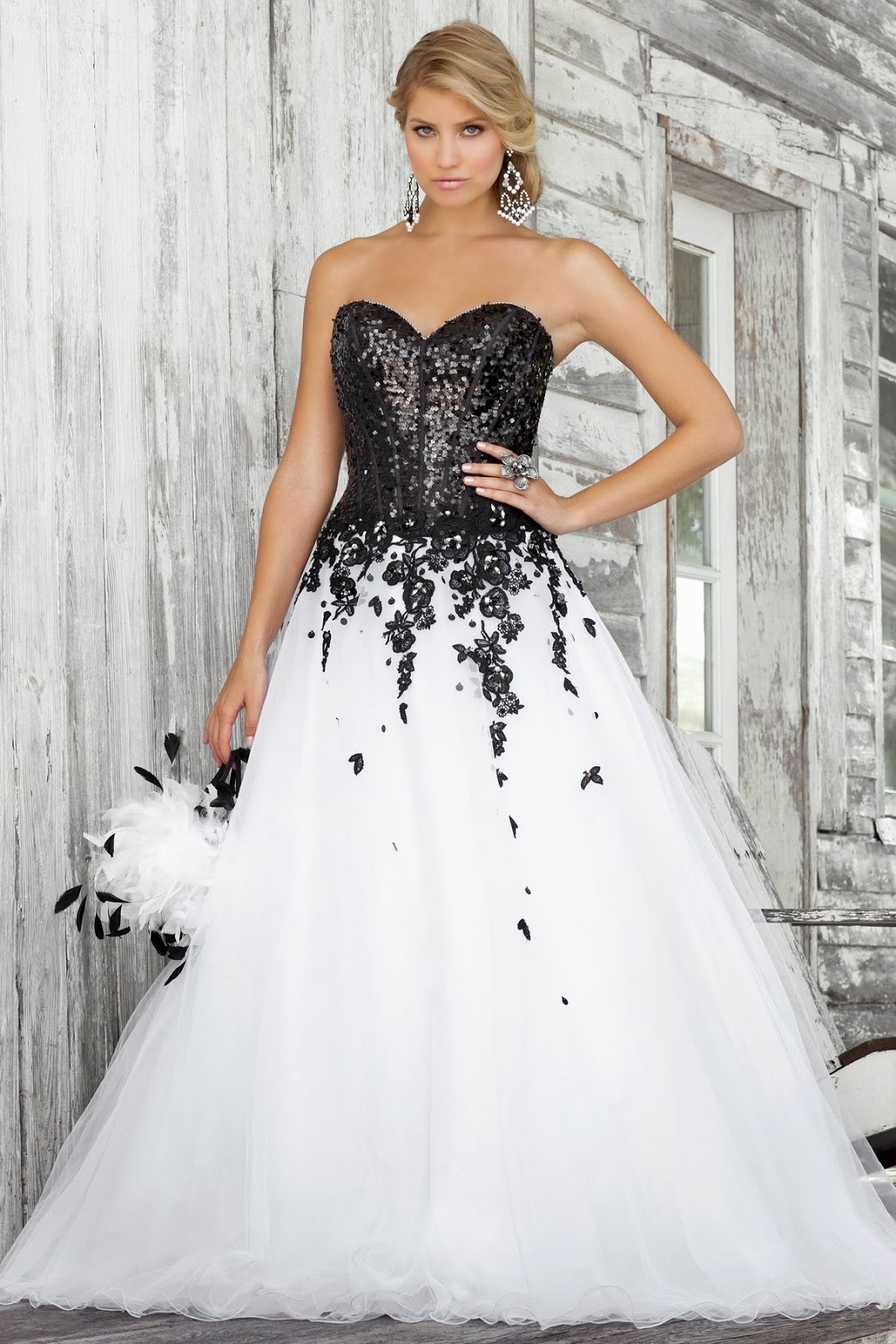 Black N White Wedding Dresses : White dress pictures black and prom dresses