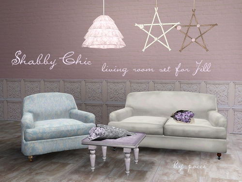 Shabby Chic Living Room Set For Jill By Pocci