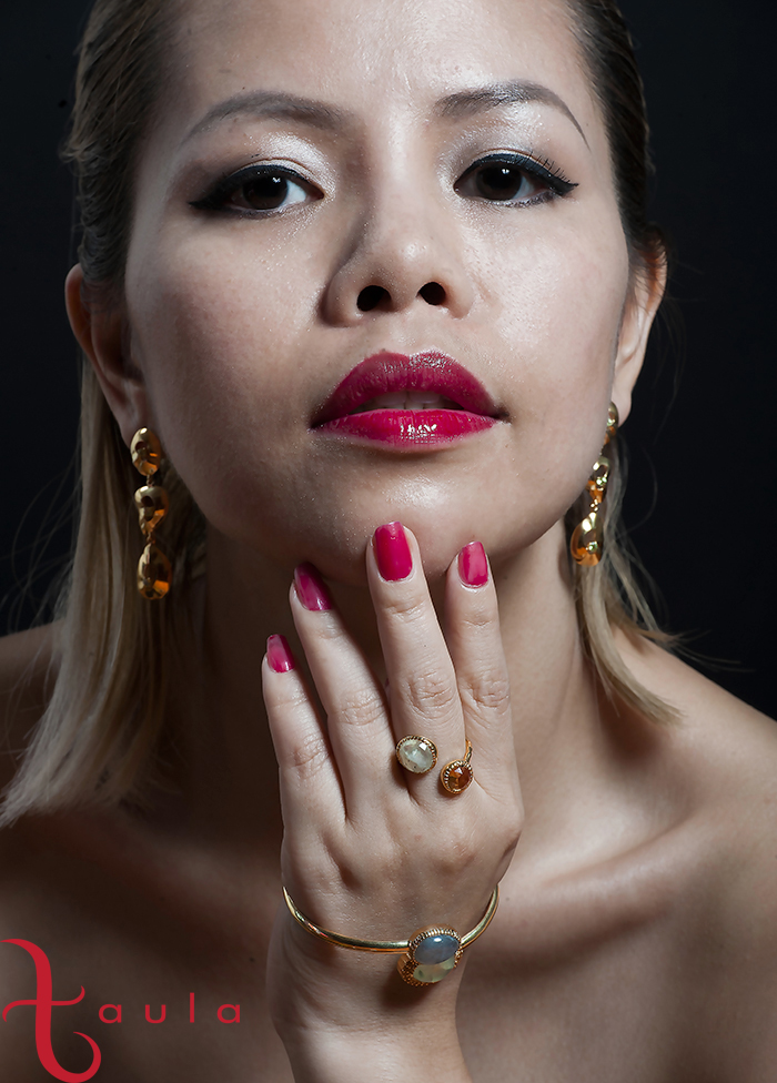 A collaboration of Crystal Phuong with Singapore jewelry brand Taula.
