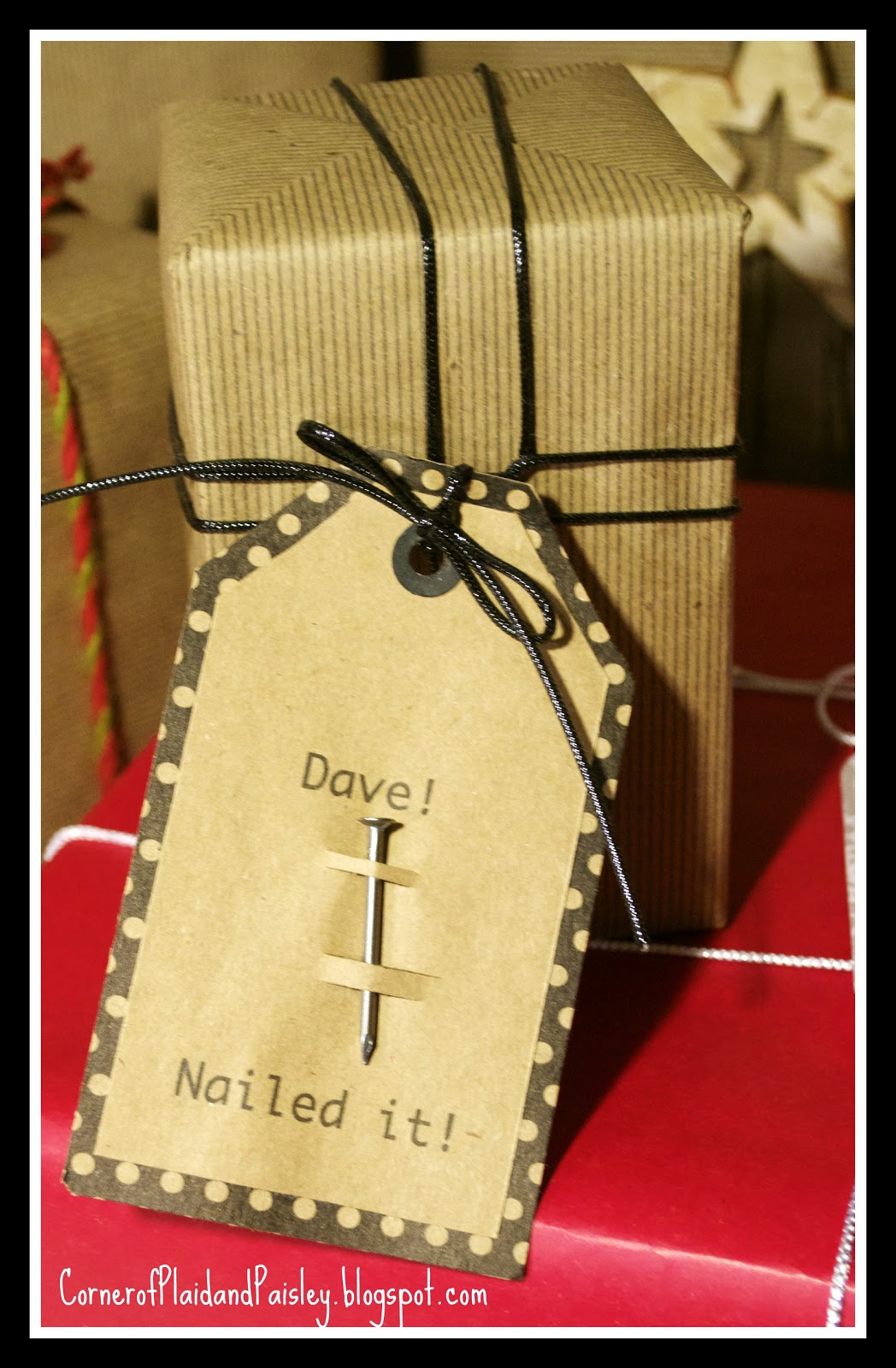 Corner of plaid and paisley kraft paper christmas gift wrapping ideas sunday december 16 2012 negle Images