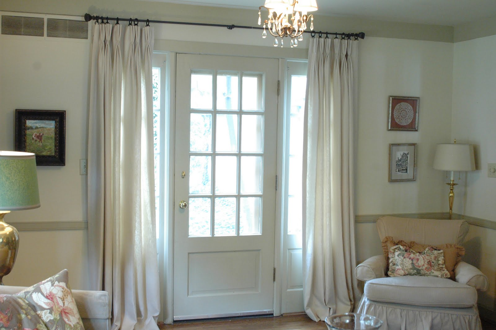 Glass front door window treatments - Drapes On Doors