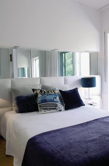 Noir blanc un style for Miroir au dessus du lit