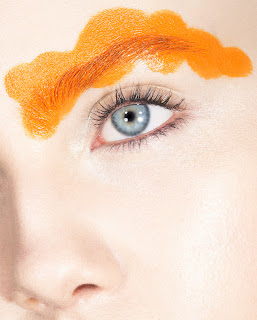 cloud eyebrow, creative makeup, graphic makeup, beauty photography
