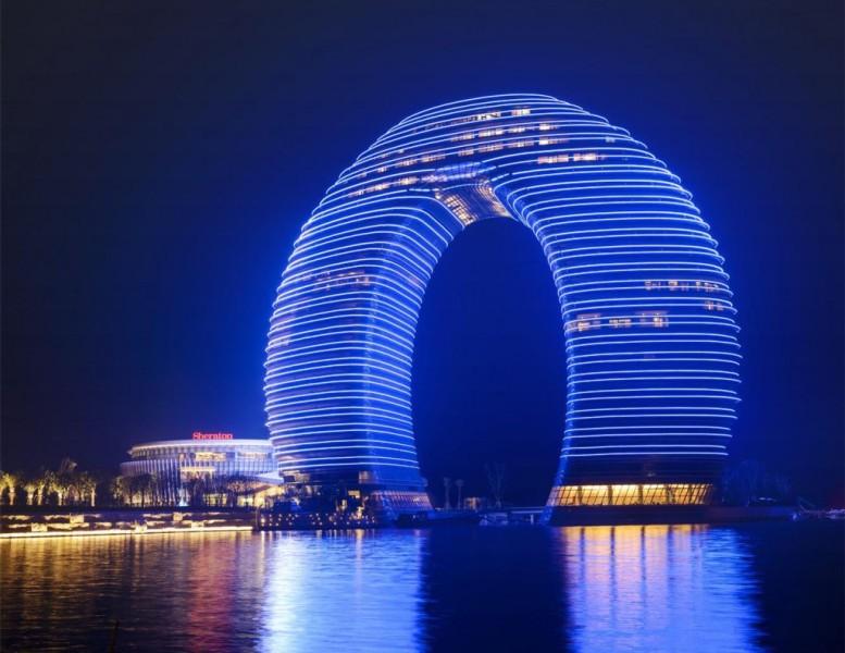 Sheraton_Huzhou_Hot_Spring_Resort_exterior_night_view
