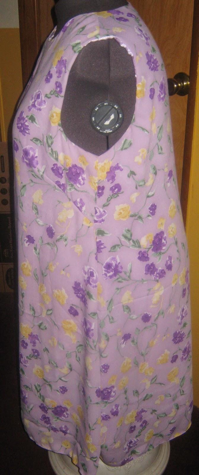Simplicity 7117 sleeveless dress www.sewplus.blogspot.com side view