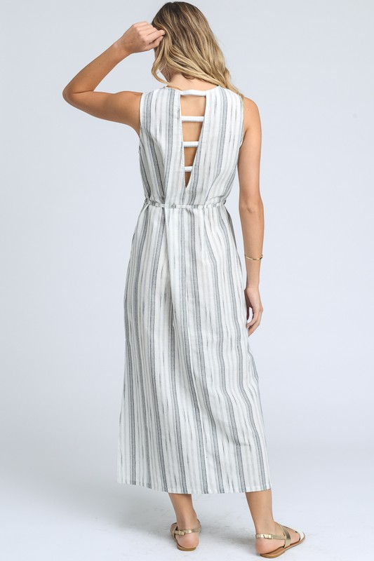 Ladder-back Linen Midi