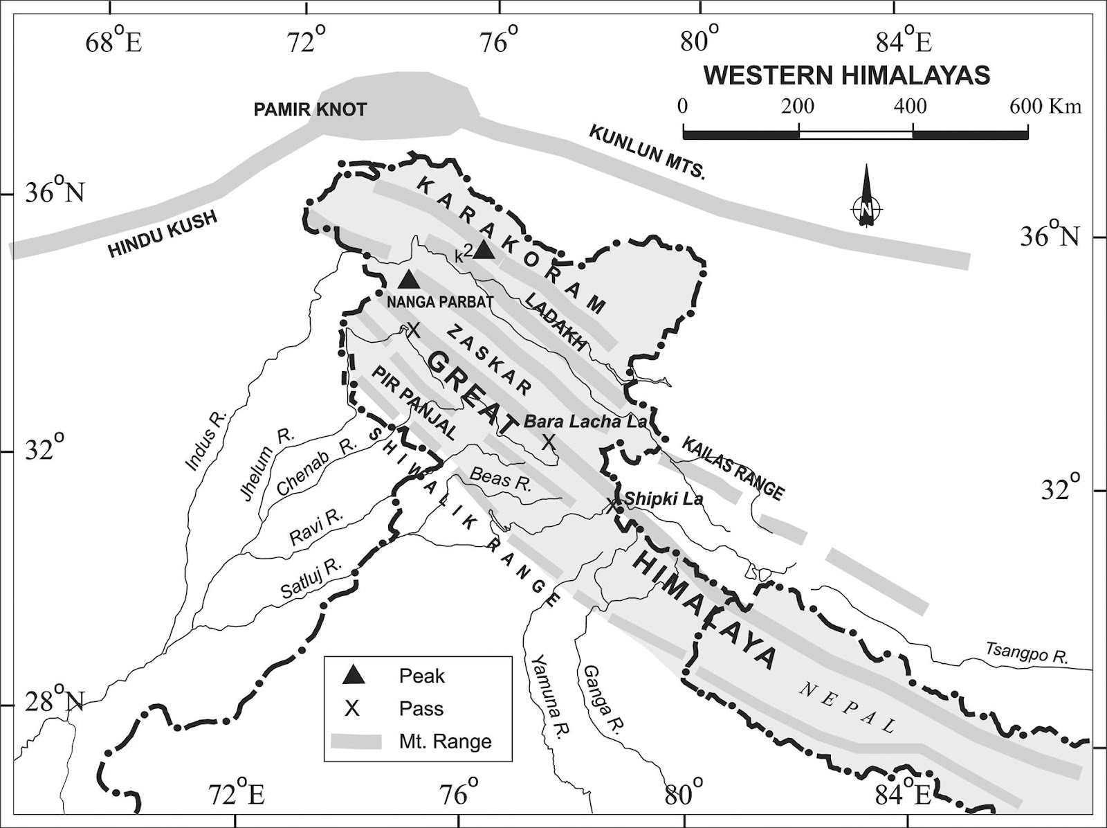 UPSC general studies and current affairs 2015: Western Himalayas
