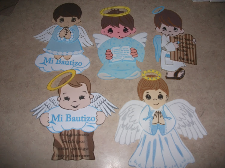 Figuras de angelito en foami - Imagui