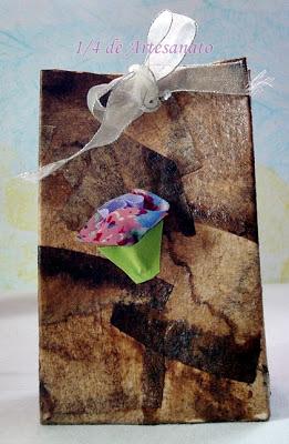 caixa tetra pack reciclada co filtro de café usado
