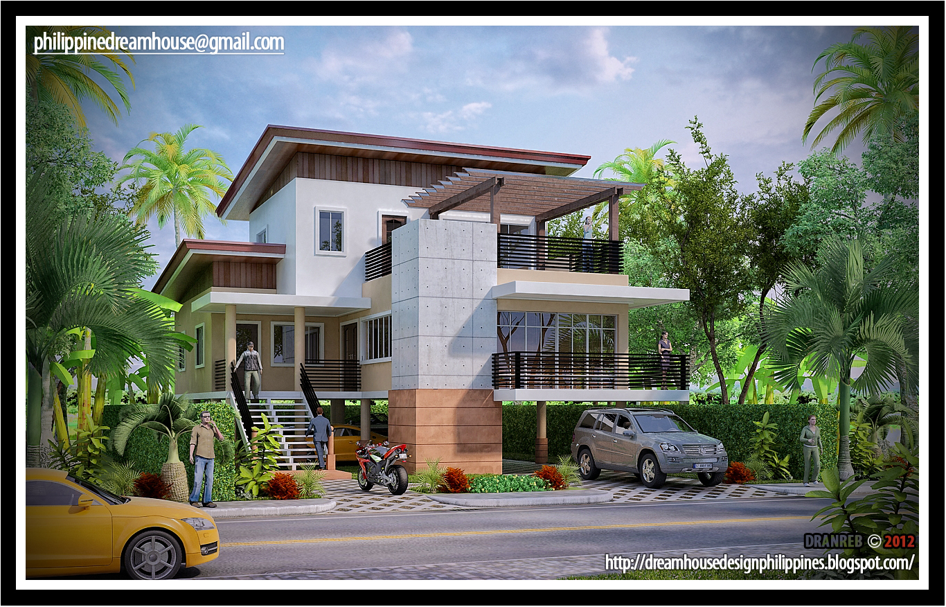 Philippine flood proof elevated house design house design for Home designs philippines