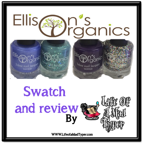 Ellisons Organics Nail polish swatch and review