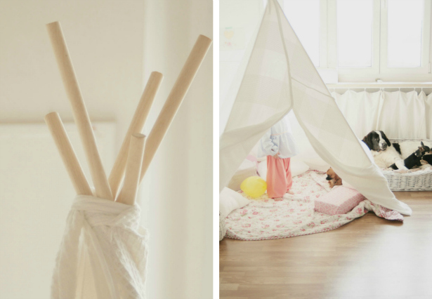 signora aurora make your own tee pee. Black Bedroom Furniture Sets. Home Design Ideas