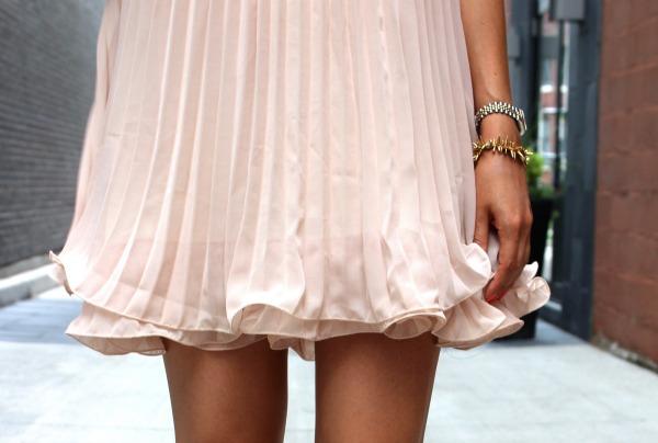 sheinside apricot dress
