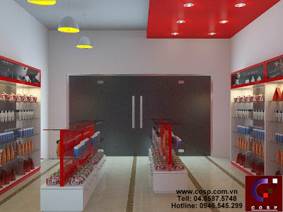 Thiết kế cửa hàng Mỹ Phẩm - Hòa Bình