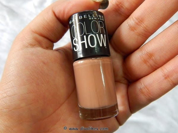 Maybelline Color Show Nail Lacquer Nude Skin 015 Review | Diva Likes