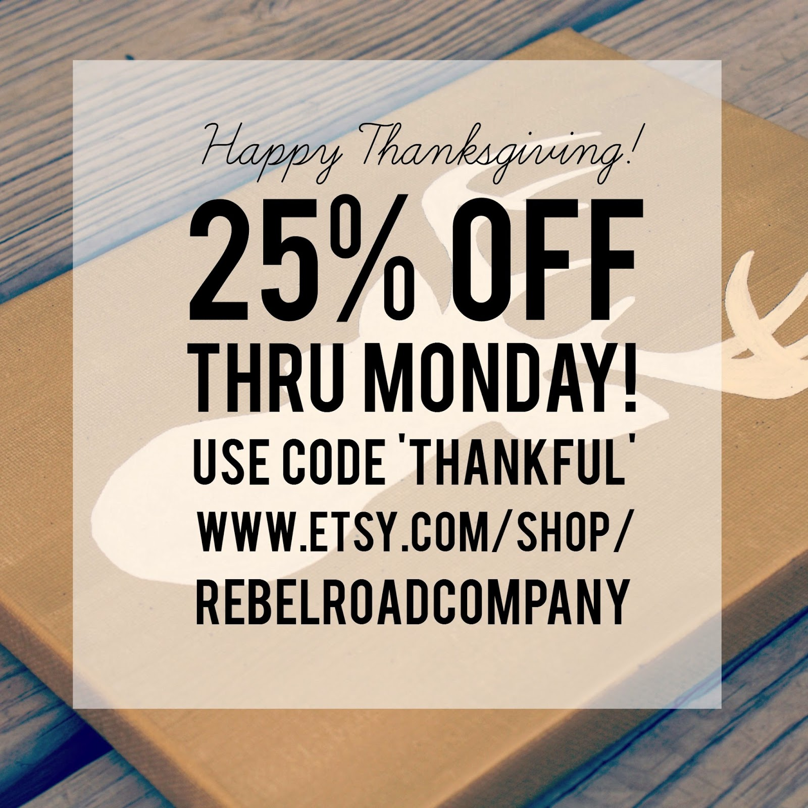 Rebel Road Company Thanksgiving Sale