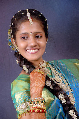 Tamil Nadu traditional bridal make up.