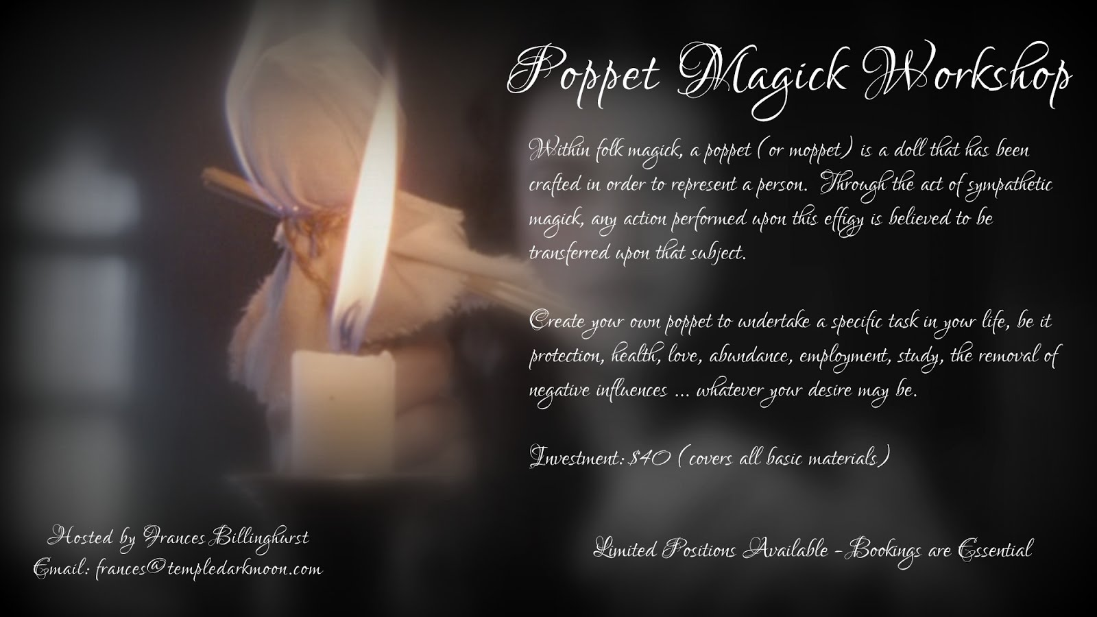 August: Poppet Magick Workshop
