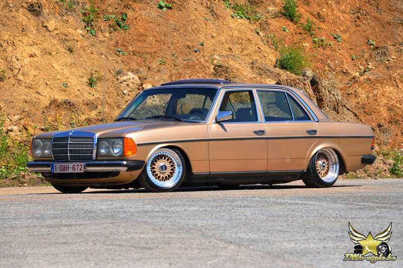 mercedes benz 200d w123 on bbs rs wheels benztuning. Black Bedroom Furniture Sets. Home Design Ideas