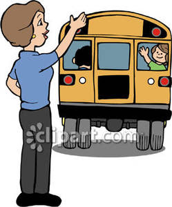 Kids in Los RosalesPerson Waving Goodbye Clipart