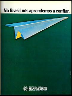 propaganda Mannesmann - 1976. propaganda antiga; década de 70. os anos 70; propaganda na década de 70; Brazil in the 70s, história anos 70; Oswaldo Hernandez;