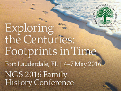 National Genealogical Society 2016 Conference