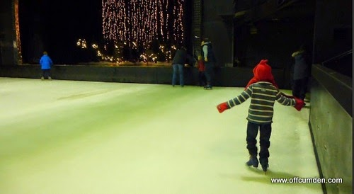 boy ice skating