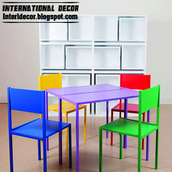 creative space saving furniture kids shelves table chairs