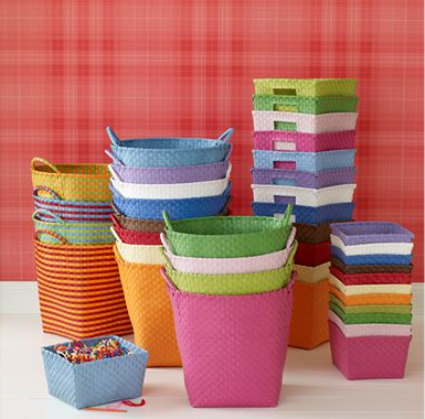 These Plastic Woven Storage Bins From Land Of Nod Are Perfect For  Organizing The Kidu0027s Playroom Or Sorting The Recycling.