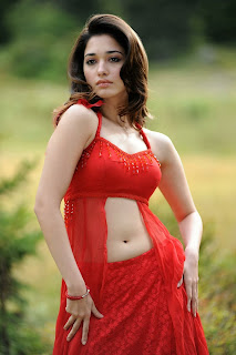 Tamanna Bhatia in a Red Choli Spicy Pictures