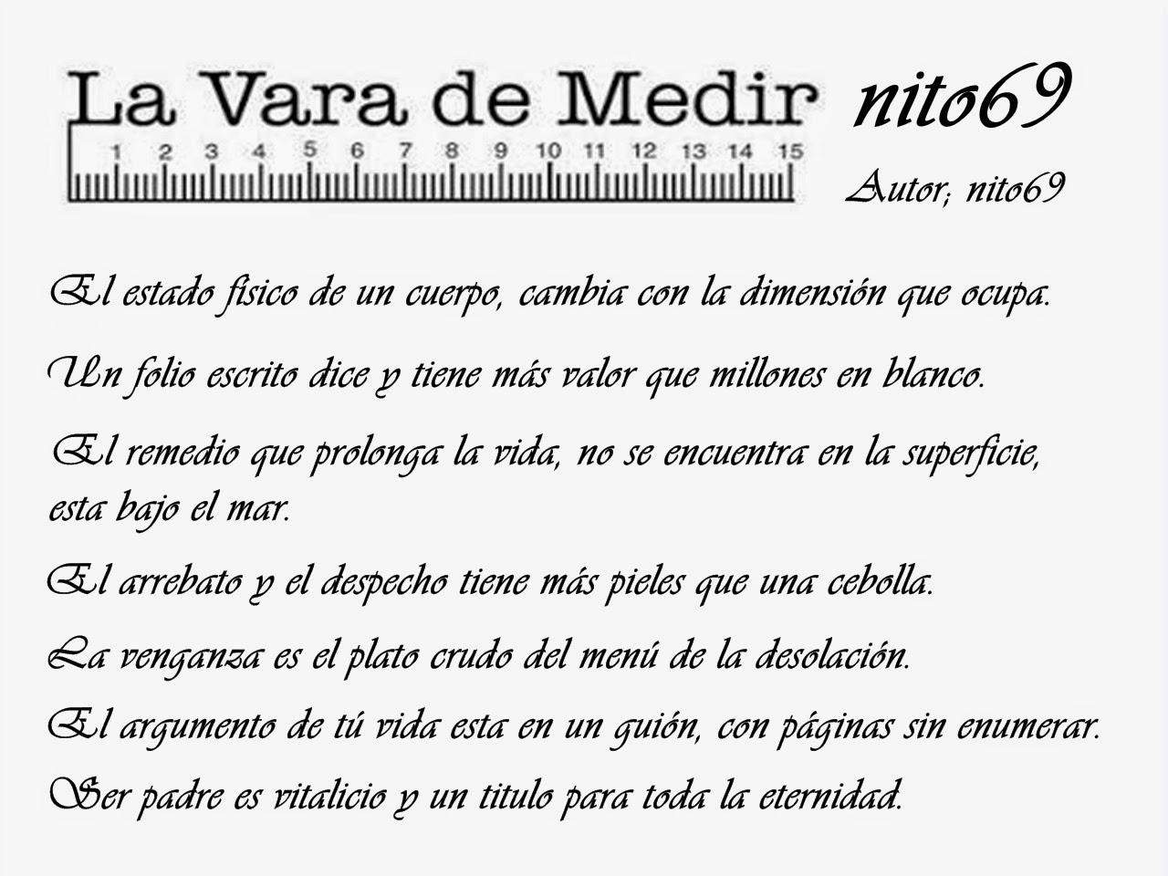 LA VARA DE MEDIR DE nito69