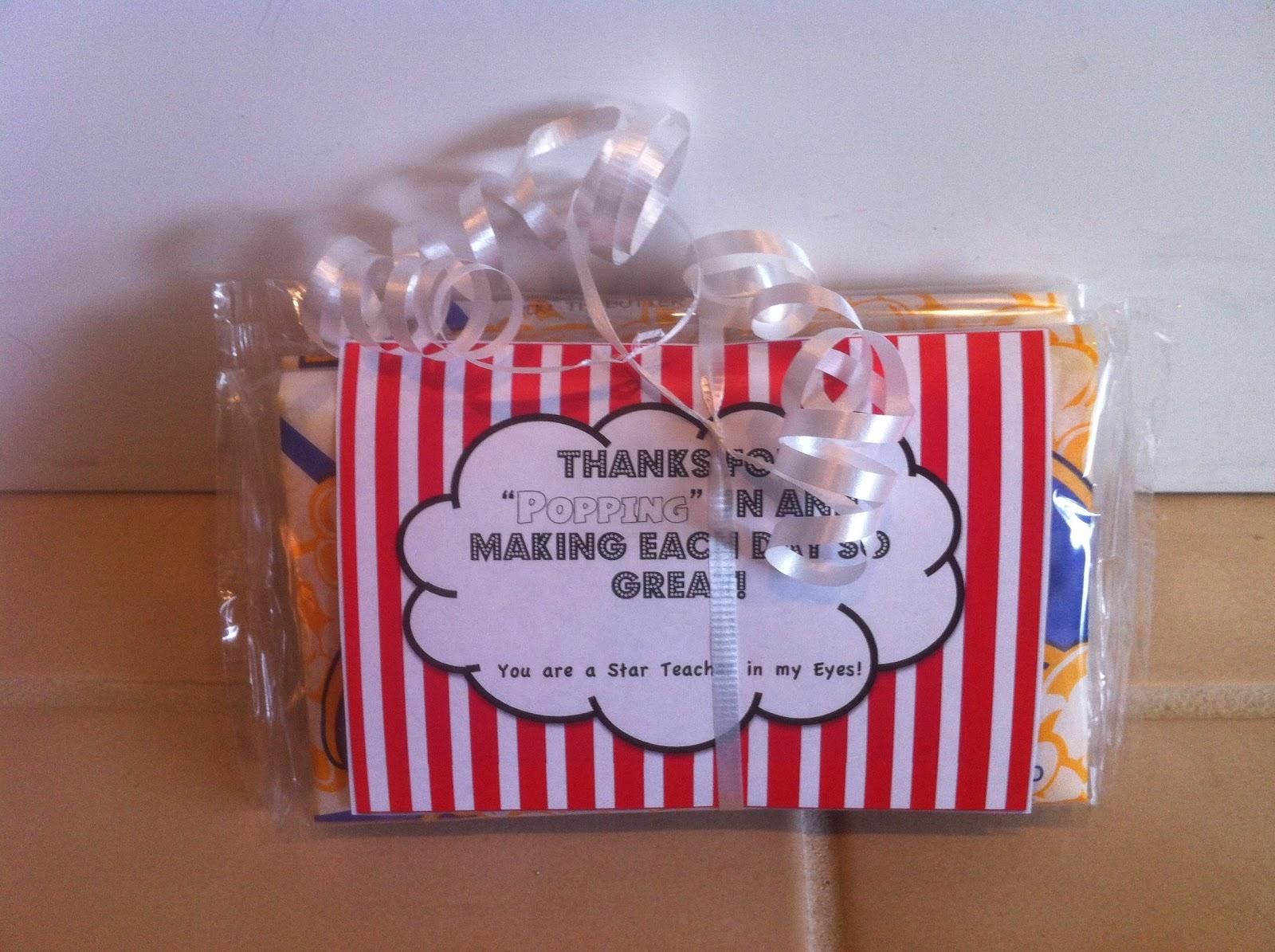 Teacher Appreciation Popcorn Sayings