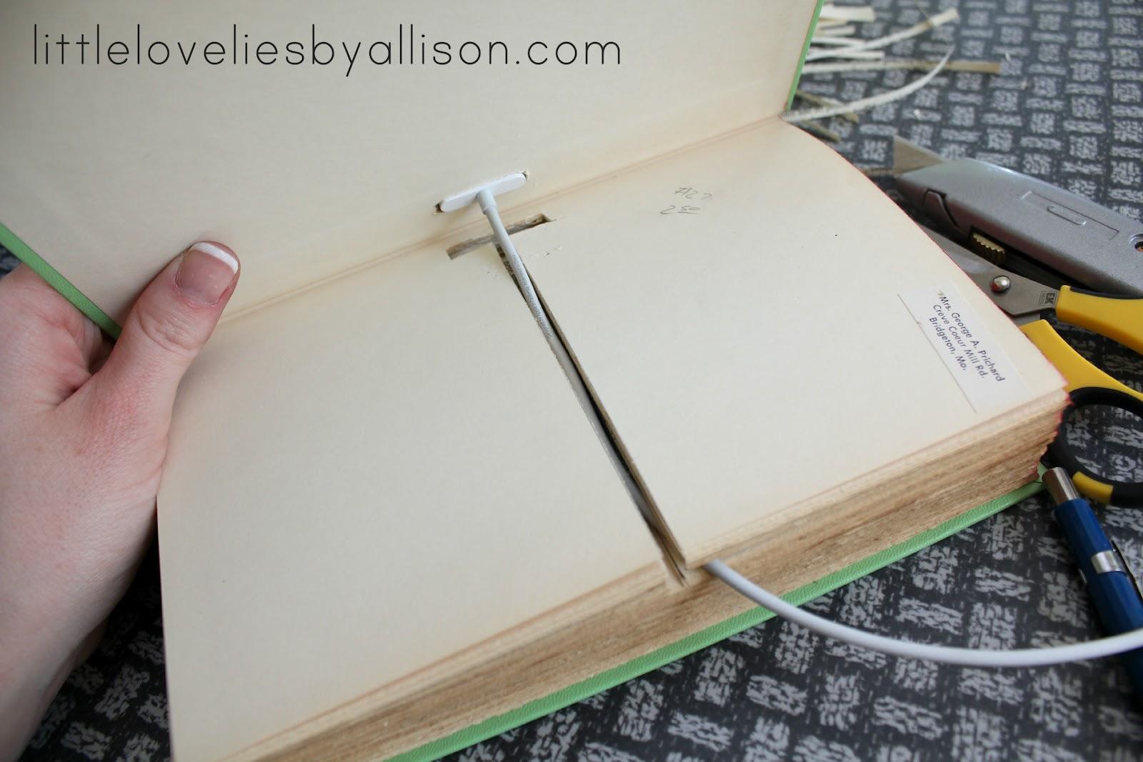 Phone Book Cover Diy : Little lovelies tutorial diy book iphone dock